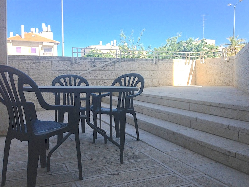 Loads of outdoor space for enjoying the Jerusalem air, sunsets and family meals.